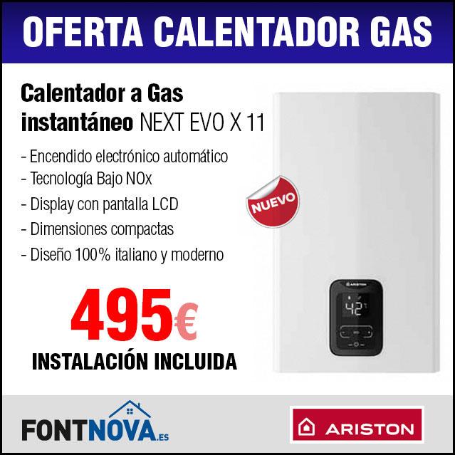 Oferta Calentador Gas natural ariston bajo nox
